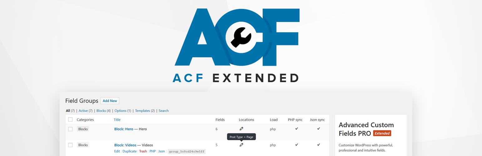 Advanced Custom Fields: Extended
