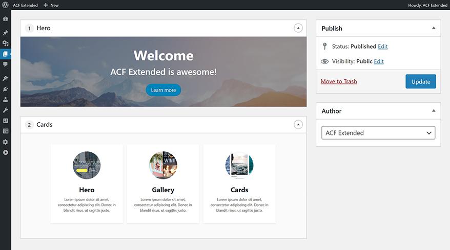 Advanced Custom Fields: Extended – WordPress plugin | WordPress org