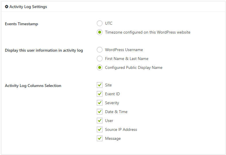 You can also configure what information and how it is displayed in the MainWP audit log from the extension's settings.