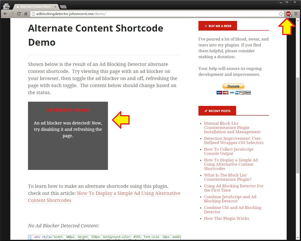 ad-blocking-detector screenshot 6