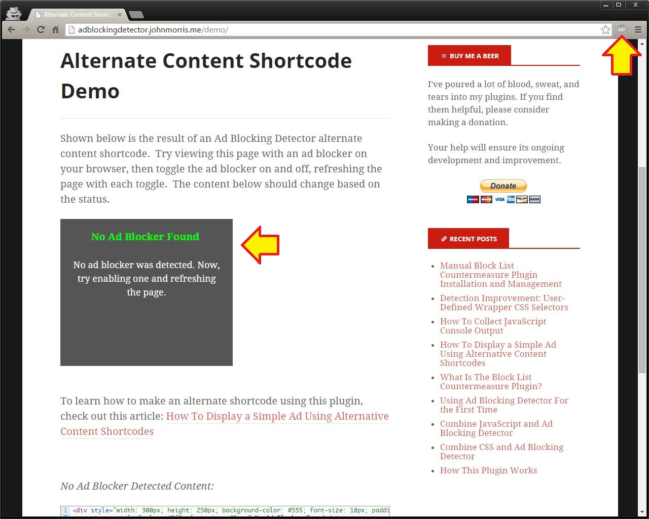 ad-blocking-detector screenshot 7