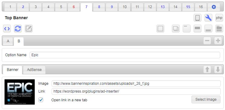 Rotation code editor and banner code generator