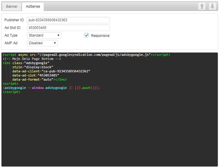 AdSense code generator