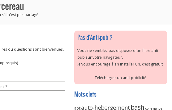 Incite Blocked Ads French example