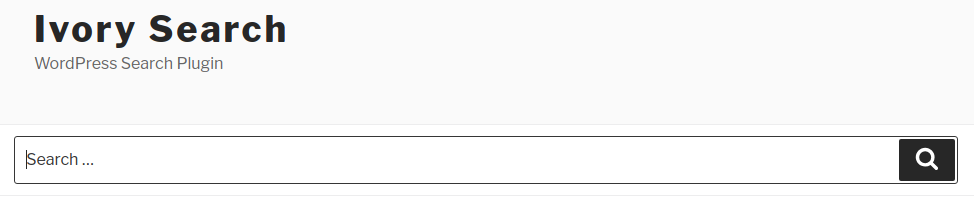 Full Width Search Form