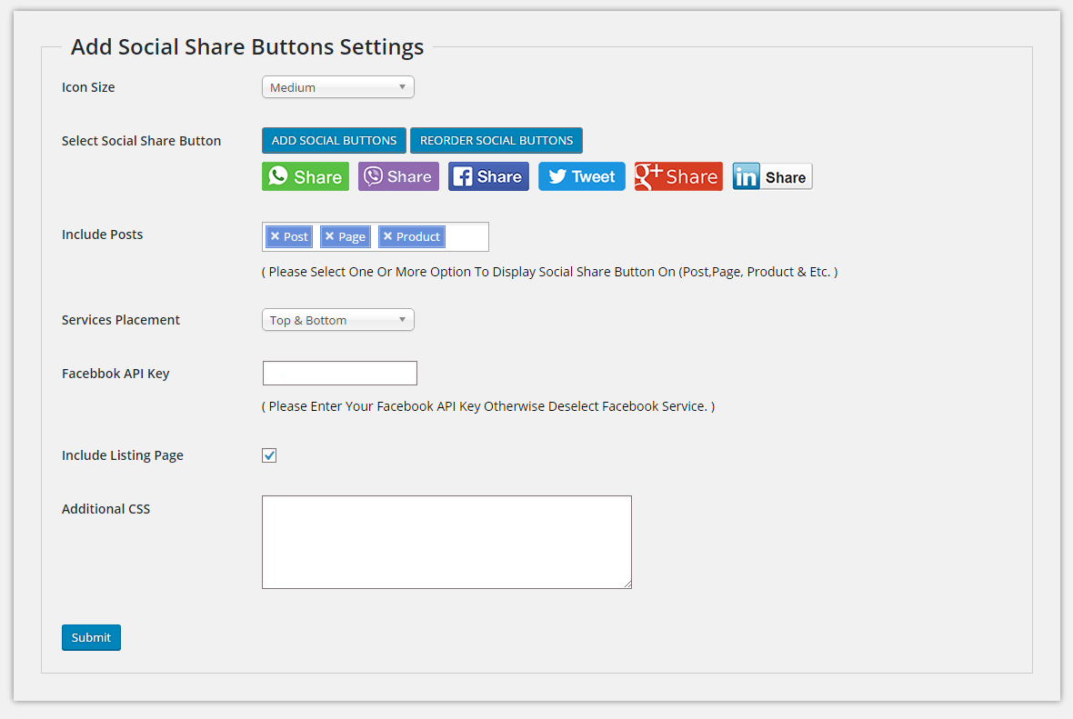 Add Social Share Buttons for Whatsapp and Viber – WordPress plugin