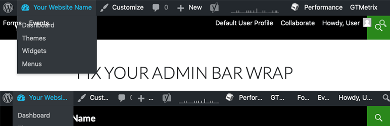 Admin Bar Wrap Fix