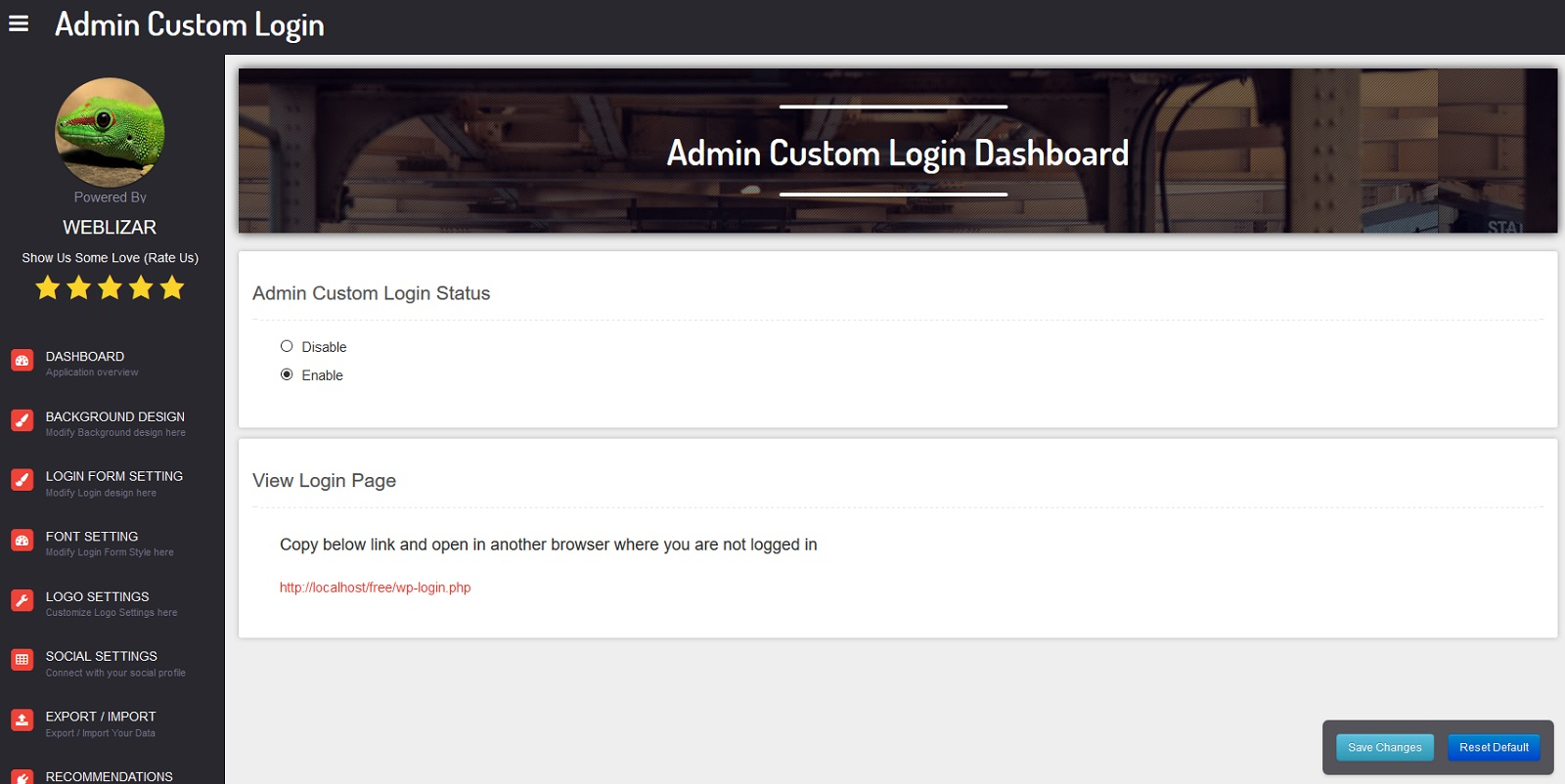 admin custom login wordpress org