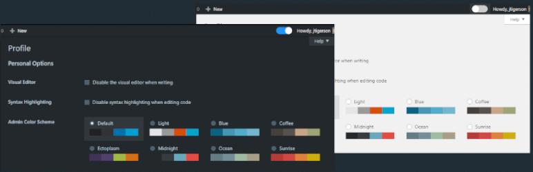 Admin Dark Mode