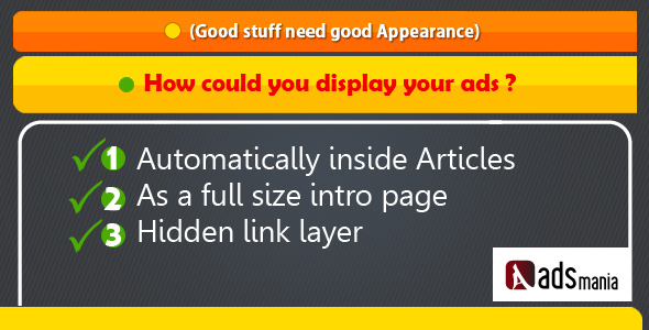 How could your ads appear ?