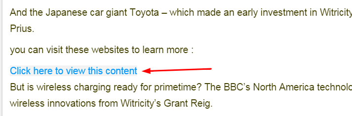 You can hide an important content until the user visit a specific link