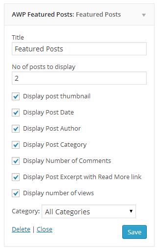 Featured Post widget.