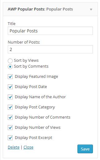 Popular Post widget.