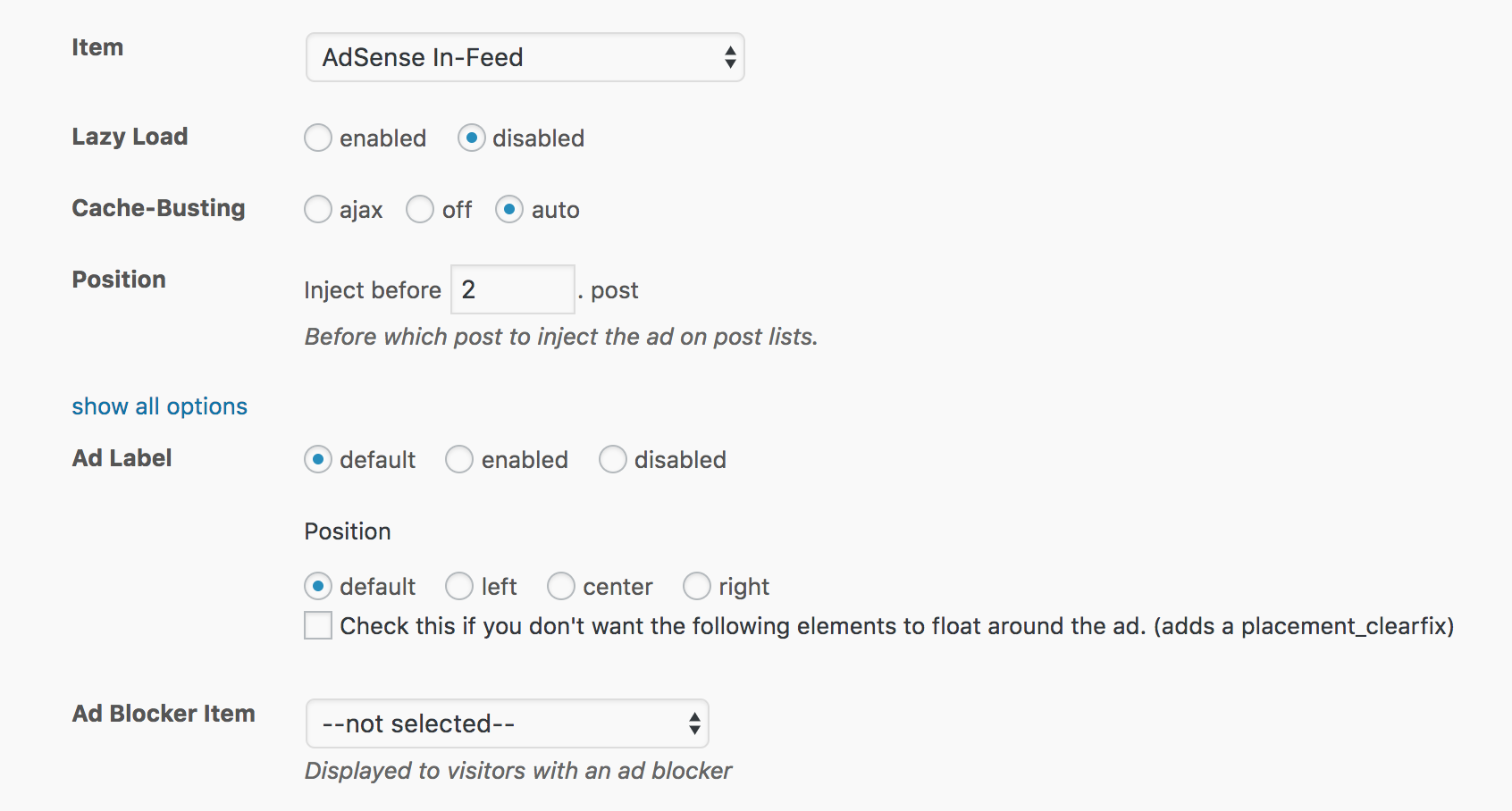 AdSense In-feed Placement for WordPress