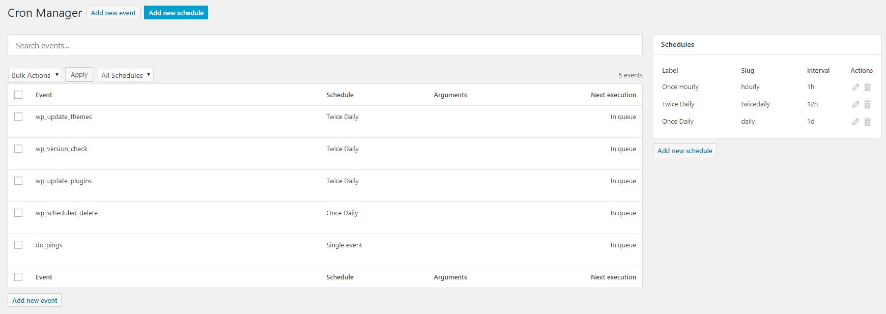 Advanced Cron Manager – debug & control – WordPress plugin