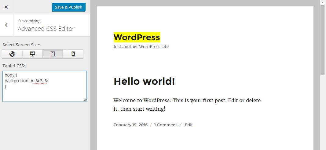 Advanced CSS Editor – WordPress plugin | WordPress.org
