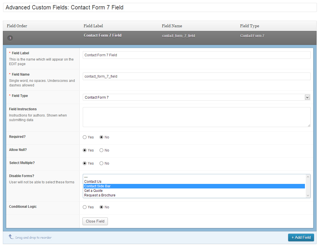 advanced-custom-fields-contact-form-7-field screenshot 1