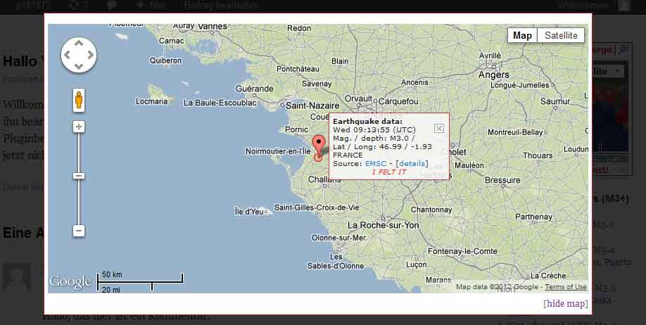 Frontend: overlay map view when clicking on location or custom marker