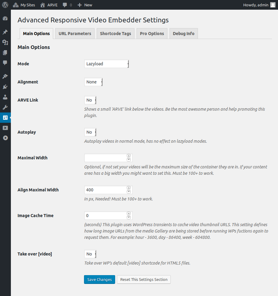 ARVE Advanced Responsive Video Embedder (YouTube, Vimeo