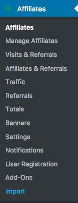 "<a href=""http://docs.itthinx.com/document/affiliates-import/"">Affiliates Import</a>"