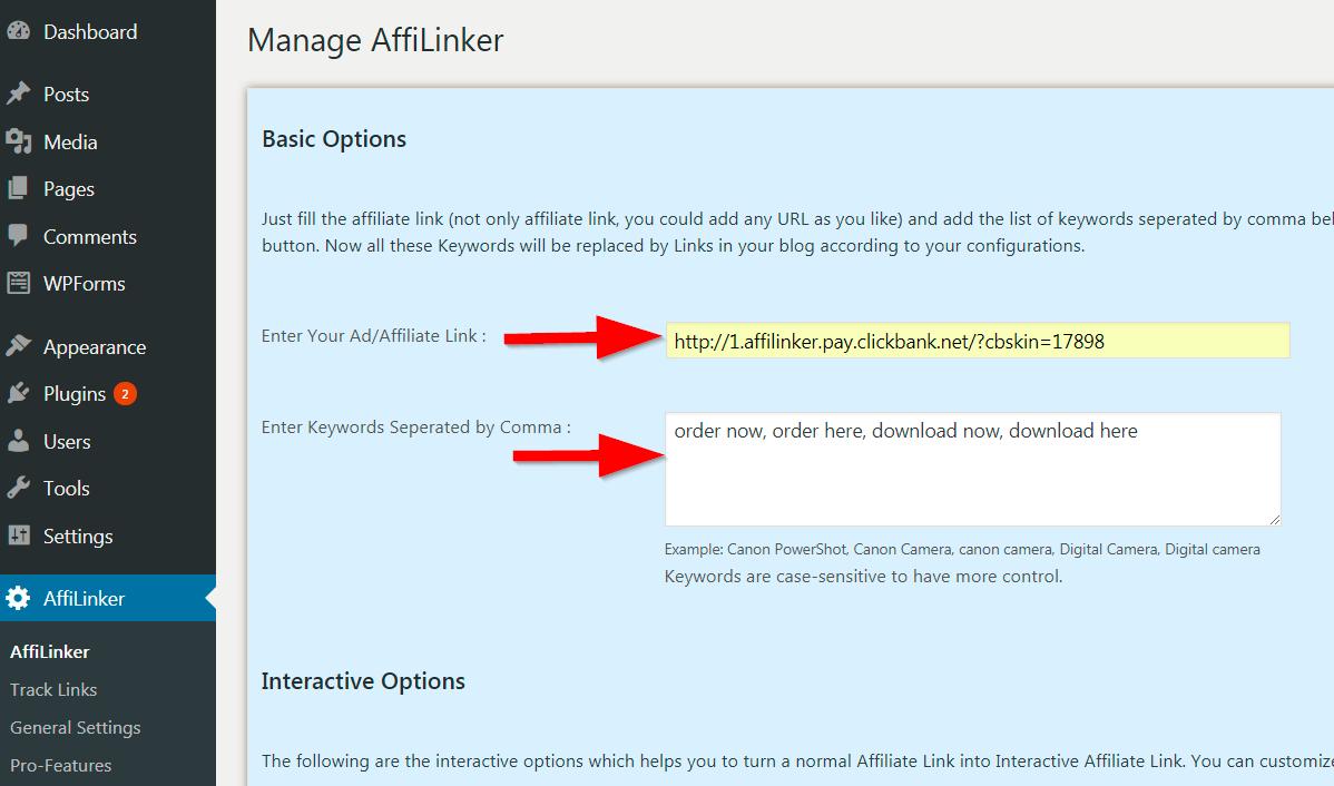 create affiliate link