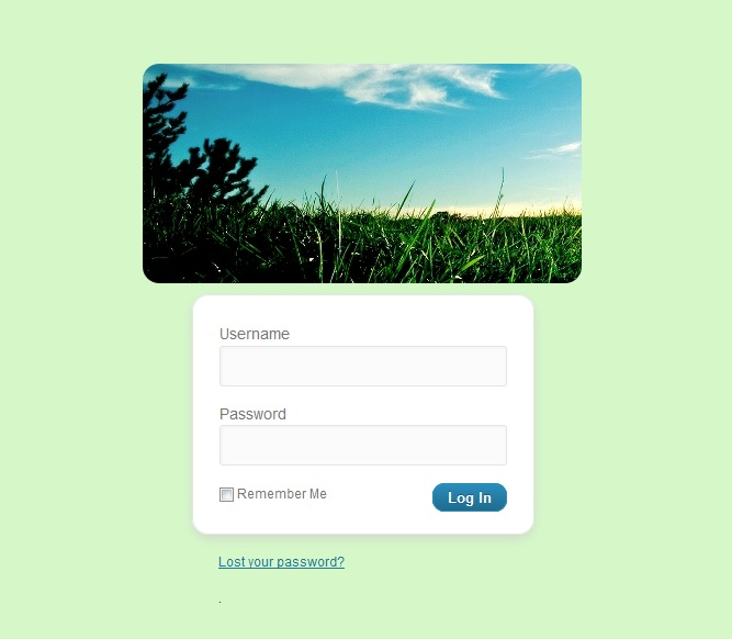 Login style example