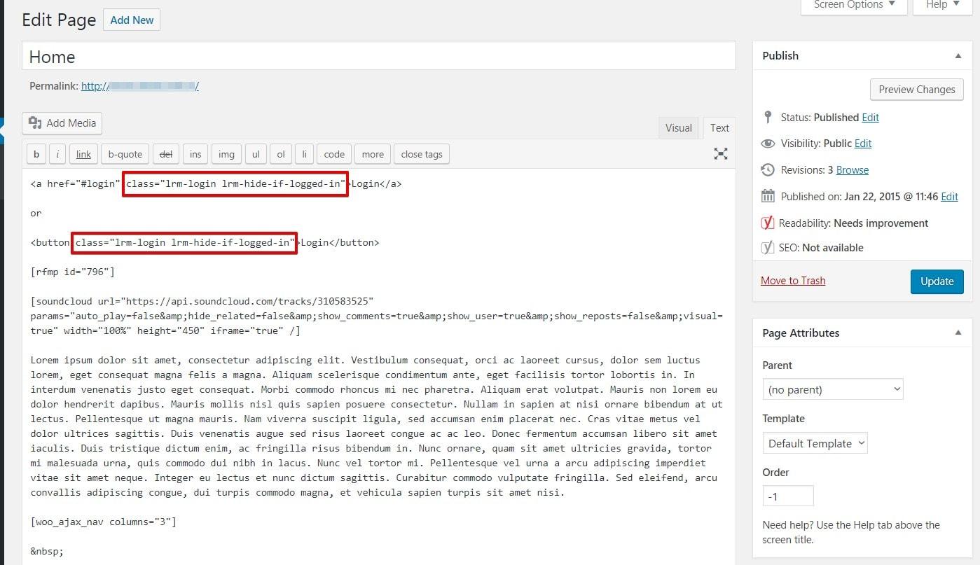 AJAX Login and Registration modal popup + inline form
