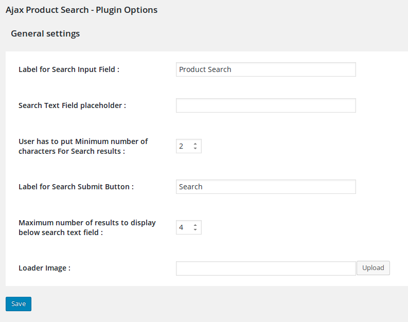 It shows the admin settings of this plugin.