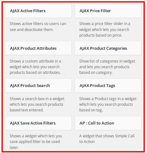 Ajaxify Filter Widgets