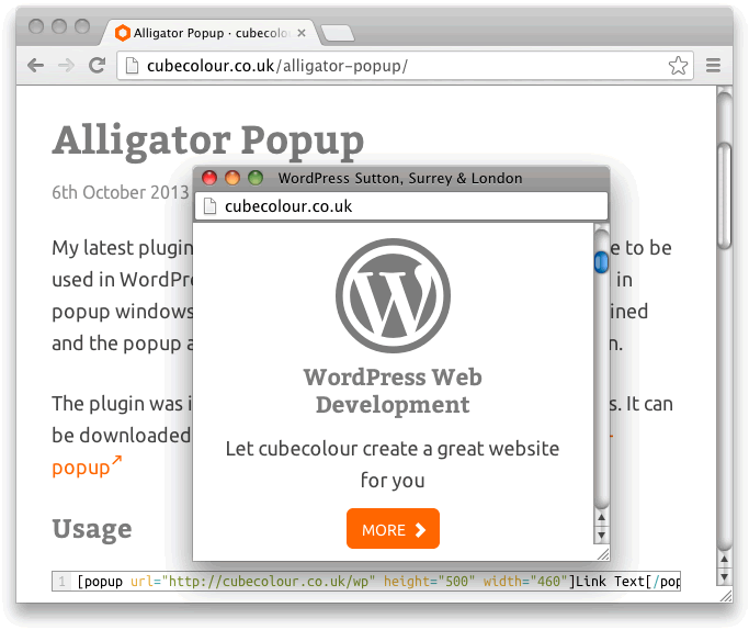 alligator-popup screenshot 1