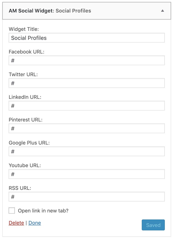 Widget Options and Profile URLs
