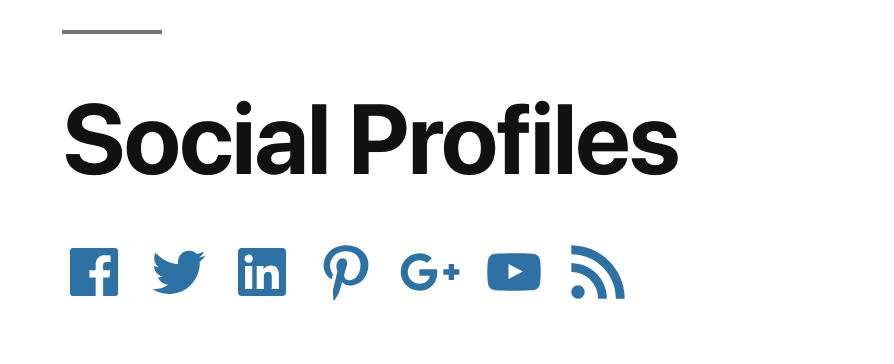 Frontend view of the Social Profiles.