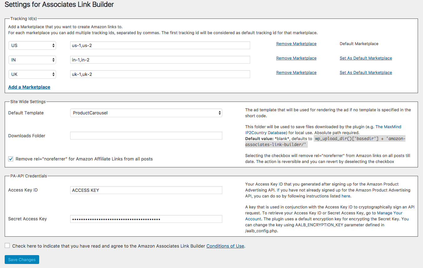 Amazon Associates Link Builder Screenshot