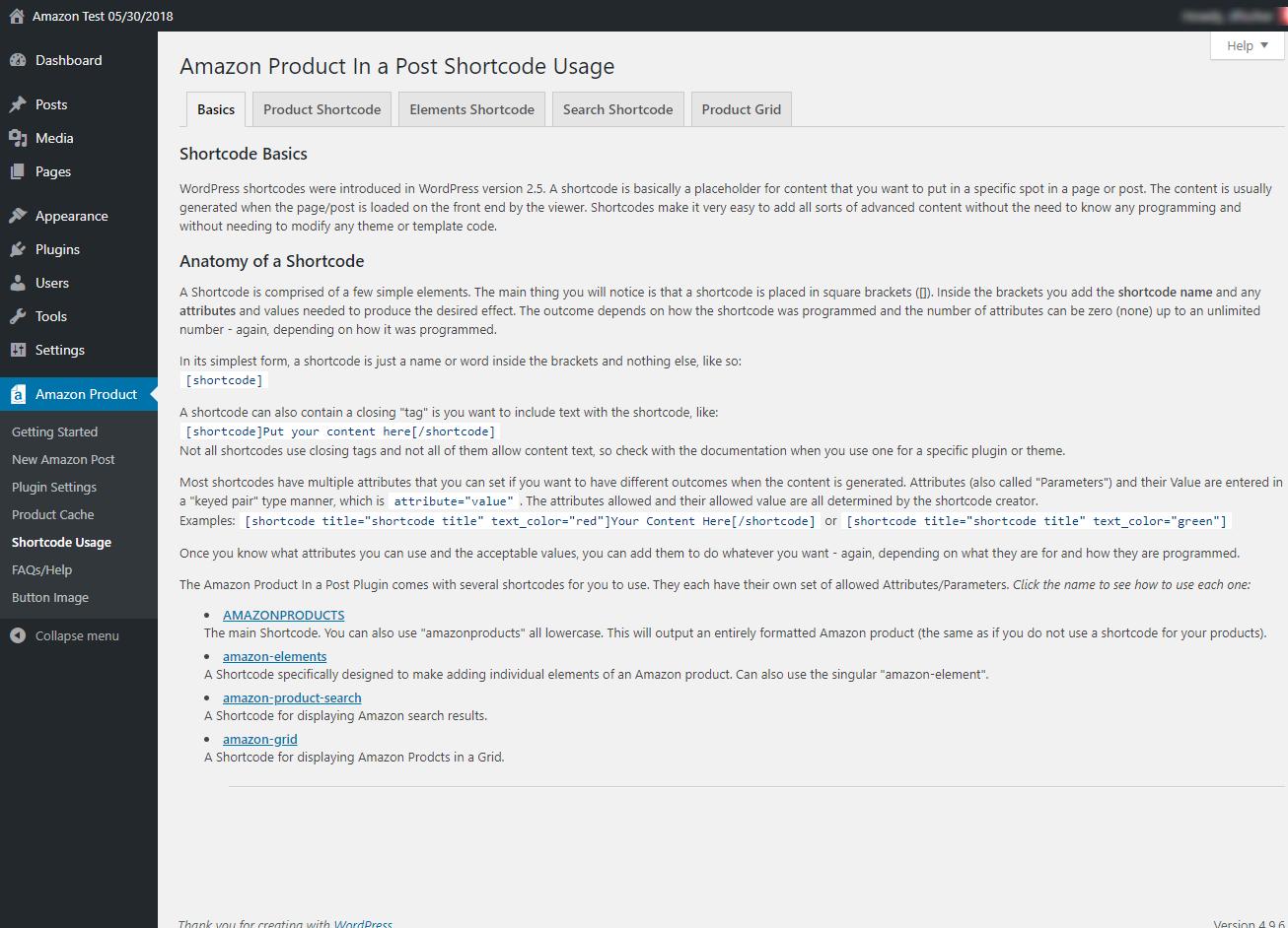 amazon product in a post plugin wordpress org