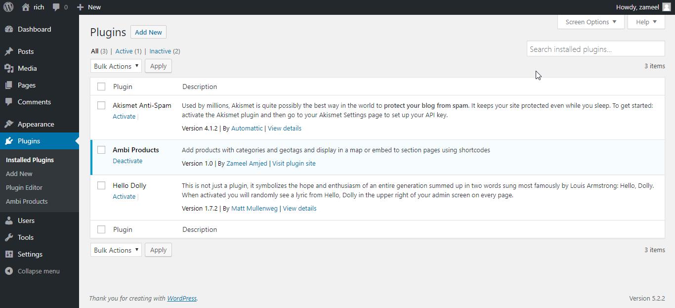 Activate plugin <code>/assets/screenshot-1.png</code>