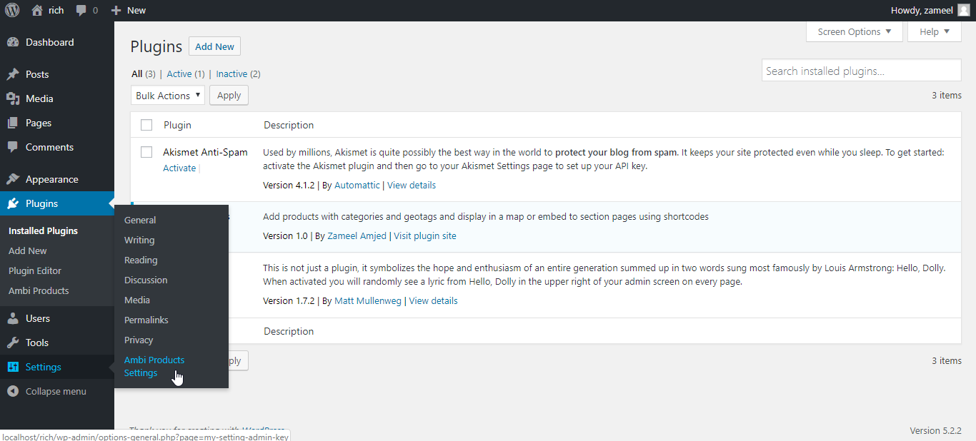 Navigate to Settings page <code>/assets/screenshot-2.png</code>