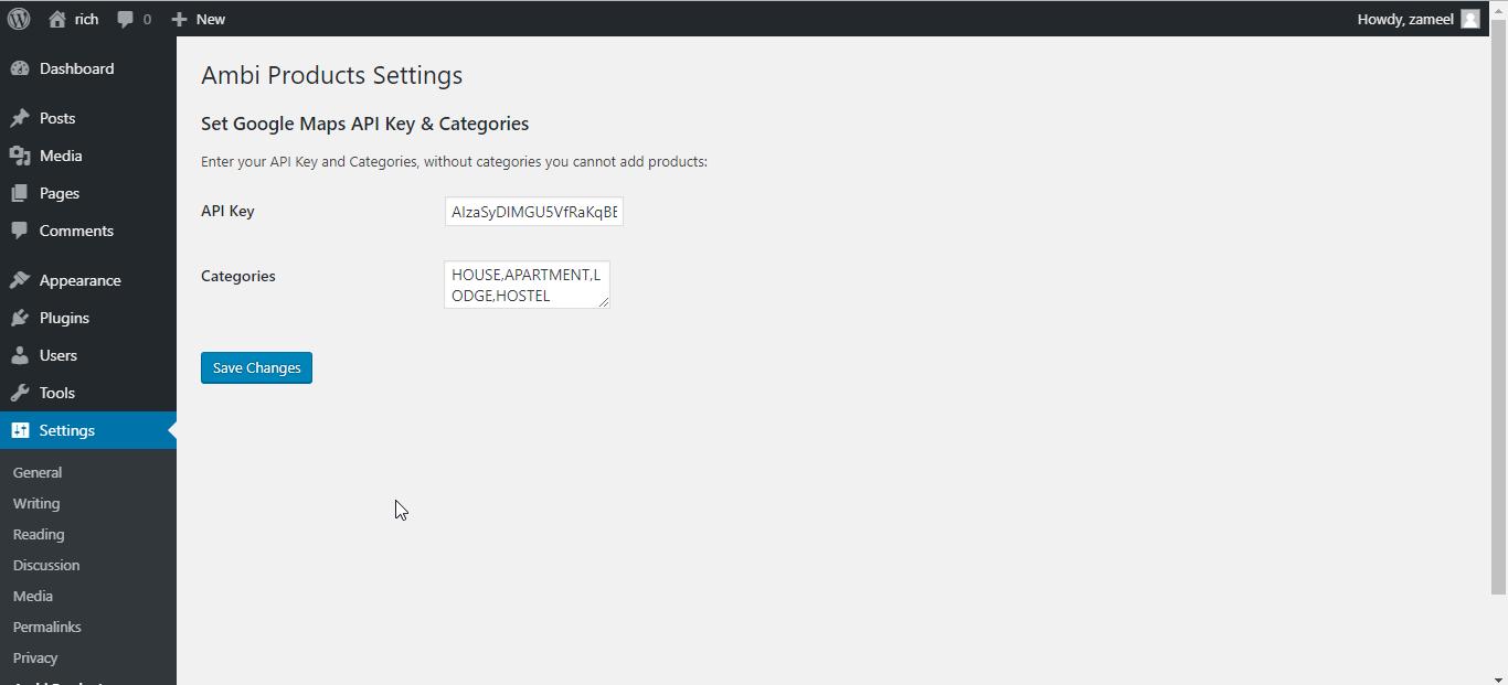 Add Google Maps Javascript API Key <code>/assets/screenshot-3.png</code>