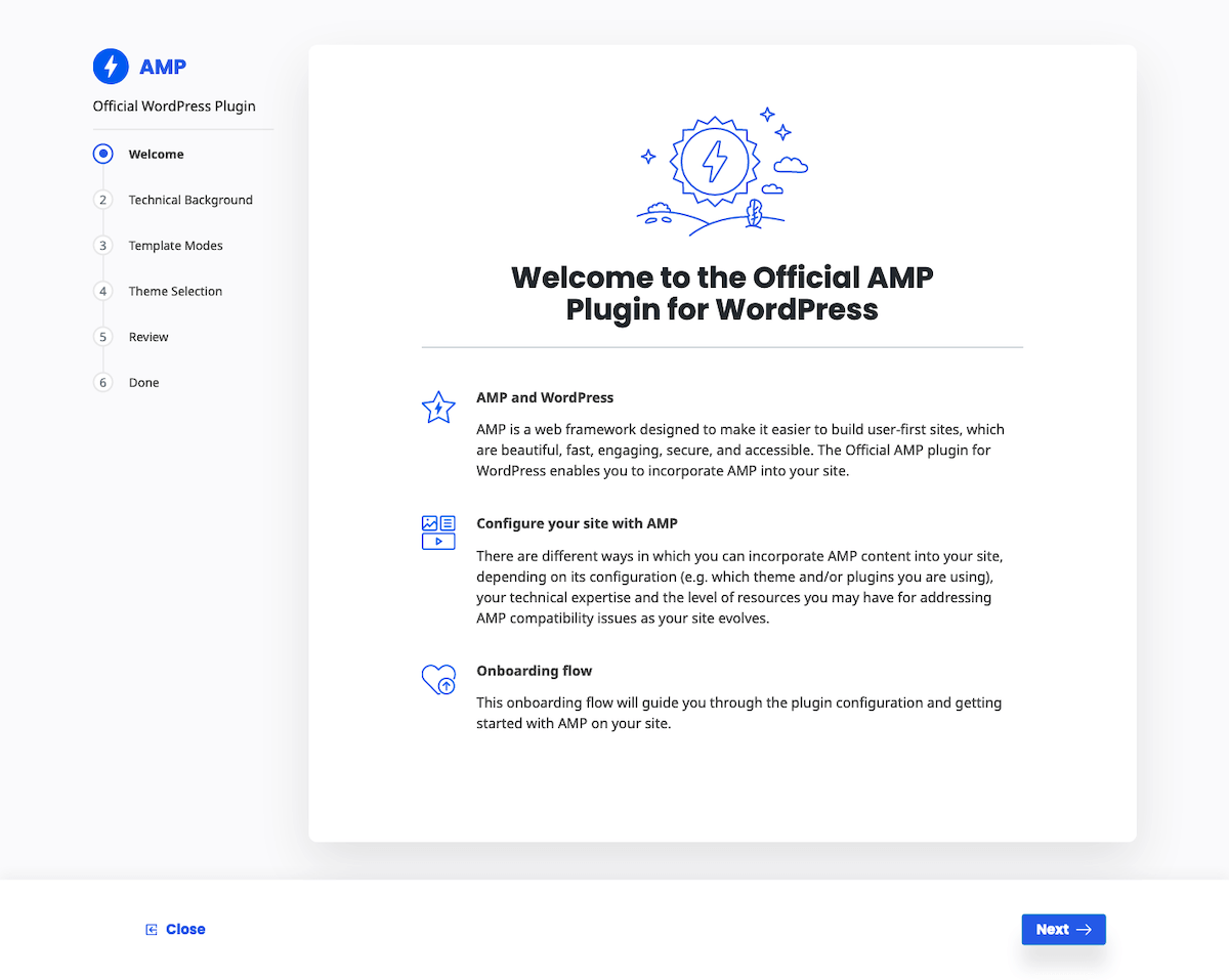 AMP for WordPress Screenshot