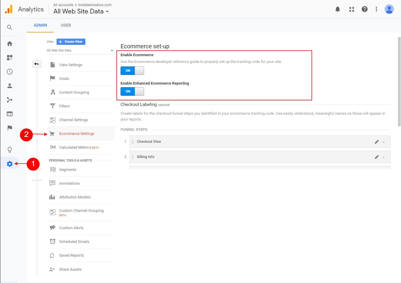 Enable Enhanced E-commerce Tracking