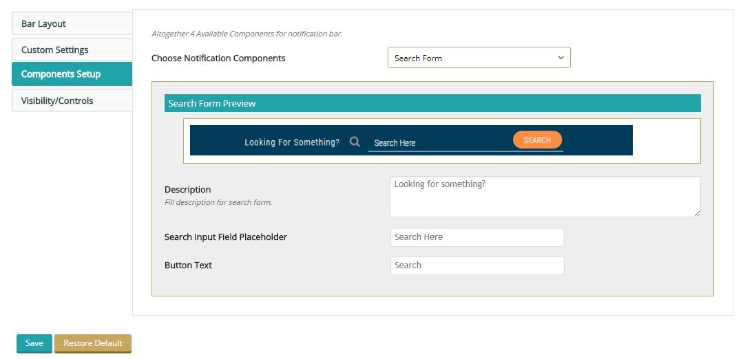 Screenshot 10 - Search Form Settings