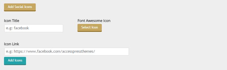 Screenshot 13 - Add Social Icon Form Settings