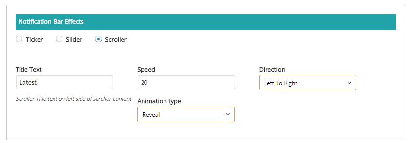 Screenshot 16 - Notification Bar Effects : Scroller Settings