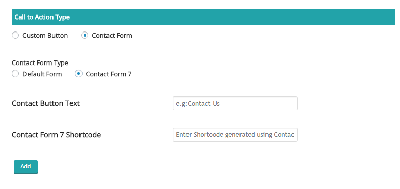 Screenshot 18 - Call to action: Contact Form 7 Settings