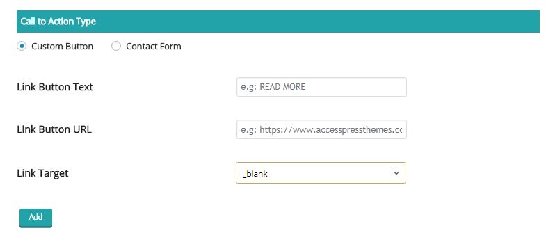 Screenshot 19 - Call to action: Custom URL Settings