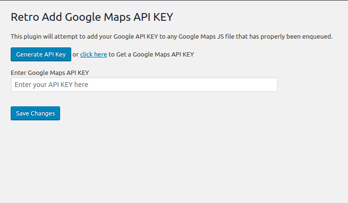API KEY for Google Maps – WordPress plugin | WordPress org