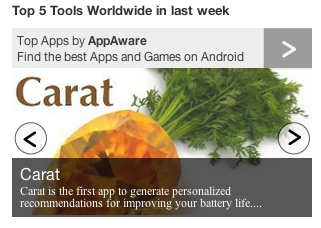 AppAware Top 5 Tools worldwide in the last week (300px)