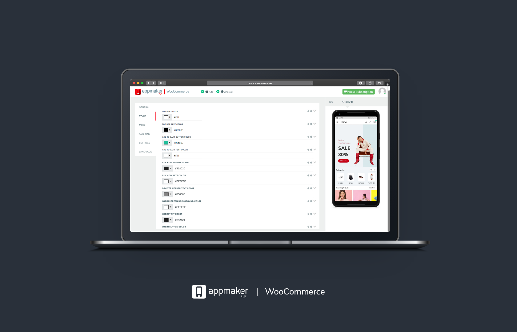 Appmaker – Convert WooCommerce to Android & iOS Native Mobile Apps