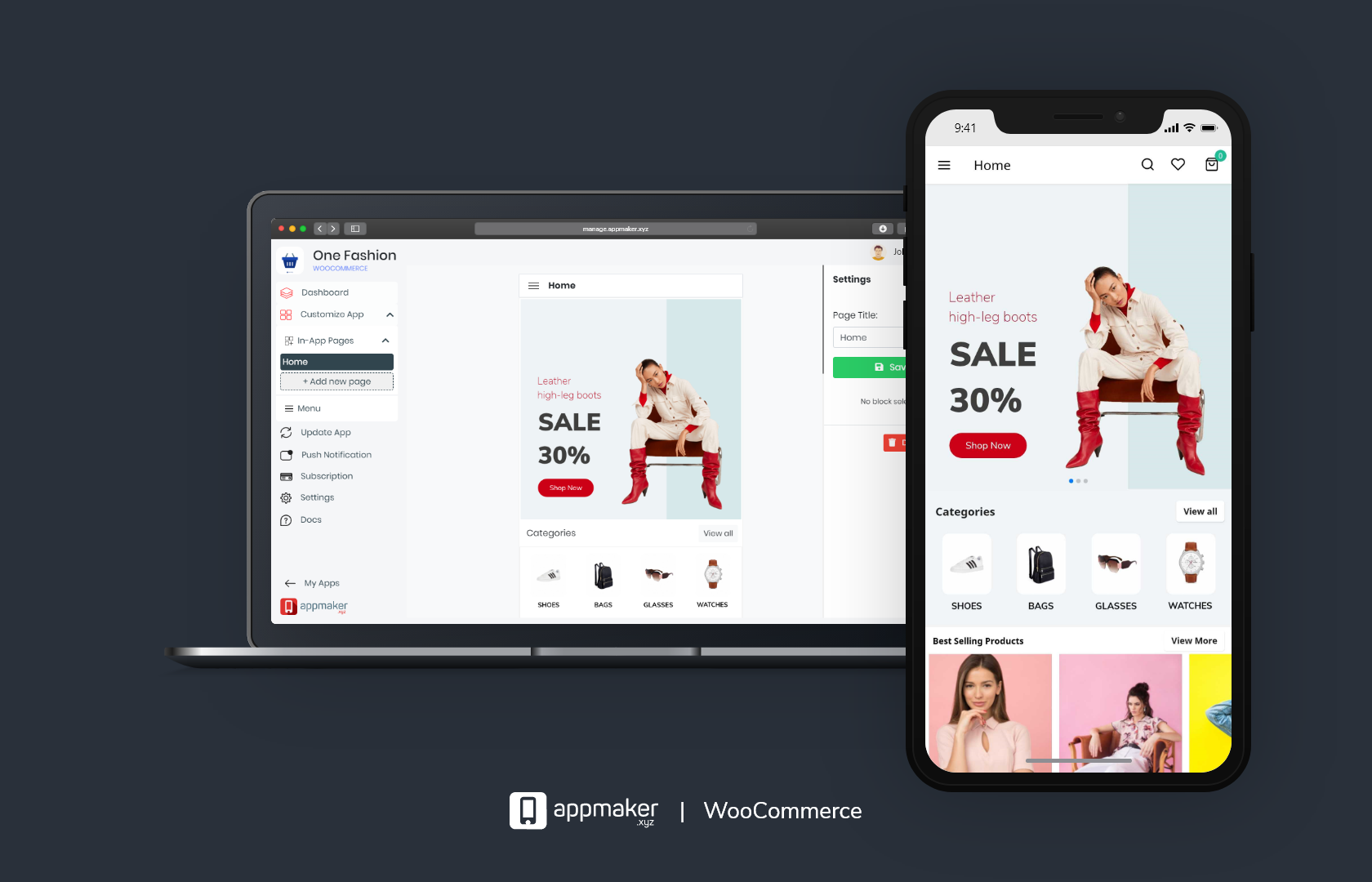 Seamlessly upload and update WooCommerce app on the go and enjoy realtime updates.