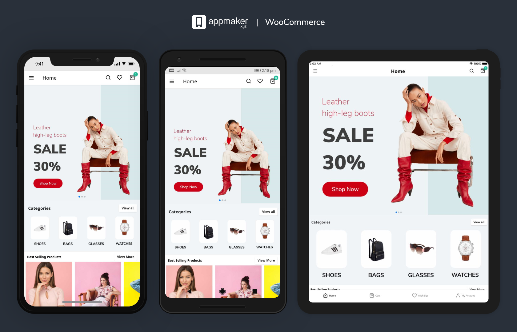 Convert your WooCommerce store to a beautiful Native Android and iOS app.