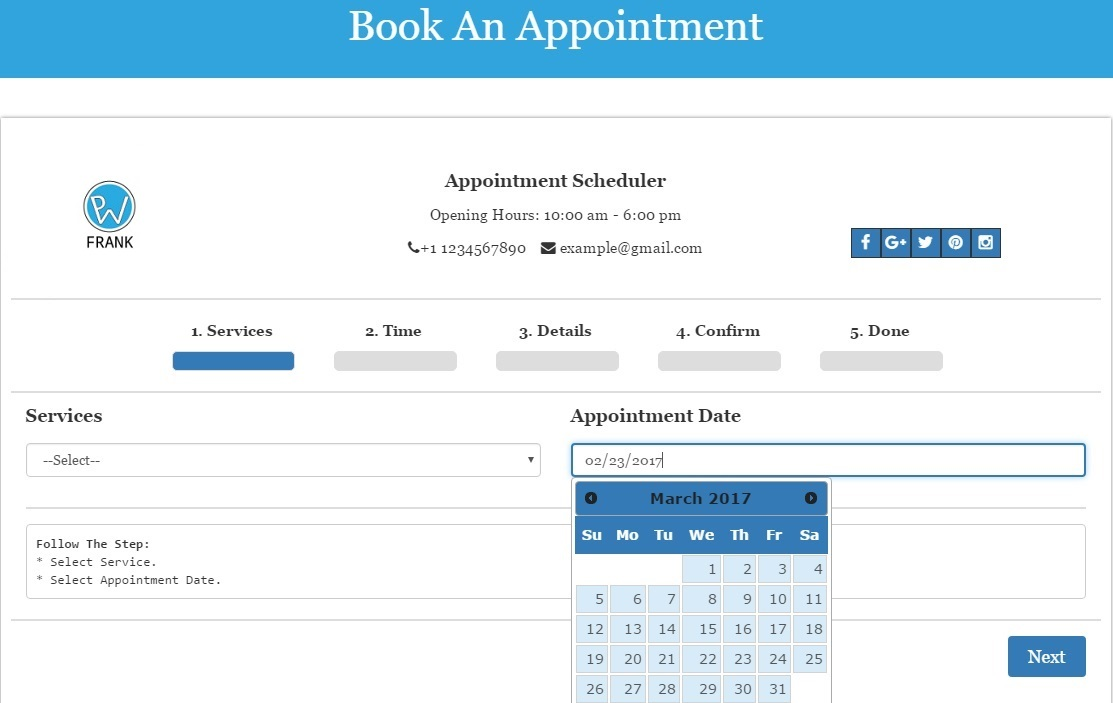 Appointment Scheduler – WordPress plugin | WordPress org